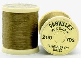 Danville's FLYMASTER 70 Denier Waxed Light Olive TFS060