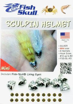 Fish Skull SKULPIN HELMET Silver Mini FSS-SL-XS