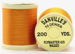 Danville's FLYMASTER 70 Denier Waxed Orange TFS007