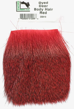 Hareline DYED DEER HAIR Red DD310