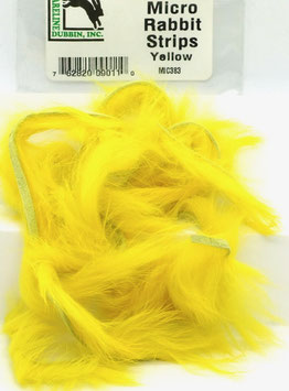 Hareline MICRO RABBIT STRIPS Yellow MIC383