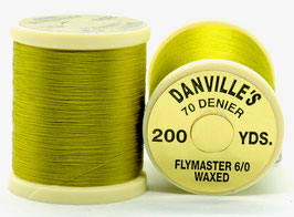 Danville's FLYMASTER 70 Denier Waxed Yellow Olive TFS061
