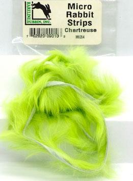 Hareline MICRO RABBIT STRIPS Chartreuse MIC54