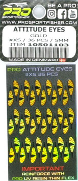 Pro Sportfisher ATTITUDE EYES Gold 5mm