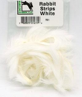 Hareline RABBIT STRIPS White RS1