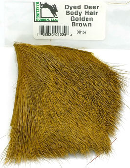 Hareline DYED DEER HAIR Golden Brown DD157