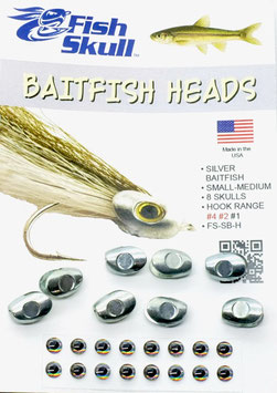 Fish Skull BAITFISH HEADS Silver Small-Medium FS-SB-H