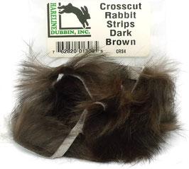 Hareline CROSSCUT RABBIT STRIPS Dark Brown CRS4