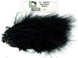 Hareline X- SELECT MARABOU Black XS11