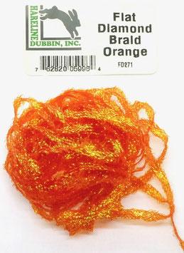 Hareline FLAT DIAMOND BRAID Orange FD271