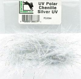 Hareline UV POLAR CHENILLE Silver PCUV344