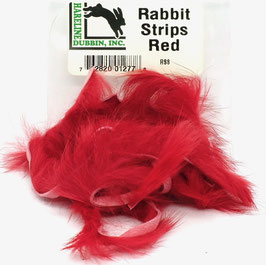 Hareline RABBIT STRIPS Red RS8