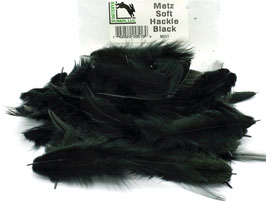 Hareline METZ SOFT HACKLE Black MH11