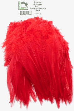 Hareline CHINESE SADDLE HACKLE 5 - 7'' Red SCSD310