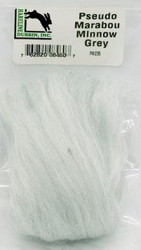 Hareline PSEUDO MARABOU Minnow Grey PM235