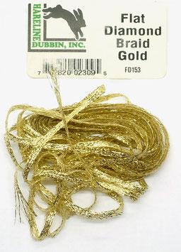 Hareline FLAT DIAMOND BRAID Gold FD153