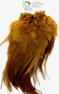 Hareline CHINESE SADDLE HACKLE 5 - 7'' Fiery Brown SCSD114