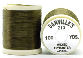Danville's FLYMASTER PLUS 210 Denier Waxed Dark Olive TPS901