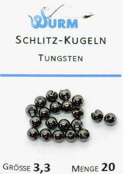 Wurm TUNGSTENKUGELN MIT SCHLITZ Schwarz 3,3mm