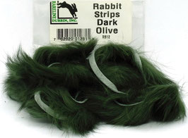 Hareline RABBIT STRIPS Dark Olive RS12