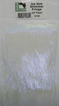Hareline ICE DUB SHIMMER FRINGE UV Pearl ISF285