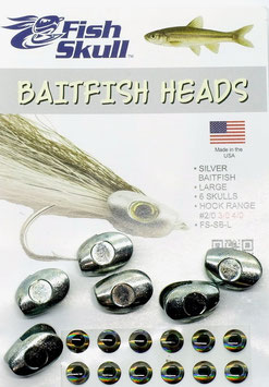 Fish Skull BAITFISH HEADS Silver Large FS-SB-L