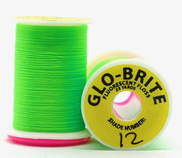 GLO BRITE FLOSS 12 Fl. Chatreuse