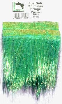 Hareline ICE DUB SHIMMER FRINGE Peacock Green ISF282