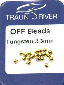 Traun River TUNGSTEN OFF BEADS 2,3mm Gold