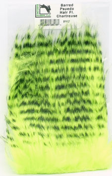 Hareline BARRED PSEUDO HAIR Fl. Chartreuse
