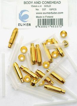 Eumer BODY & CONE 15mm x4 Gold
