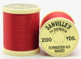 Danville's FLYMASTER 70 Denier Waxed Red TFS056