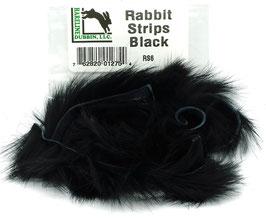 Hareline RABBIT STRIPS Black RS6