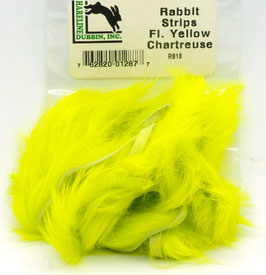 Hareline RABBIT STRIPS Fl. Yellow Chartreuse RS18
