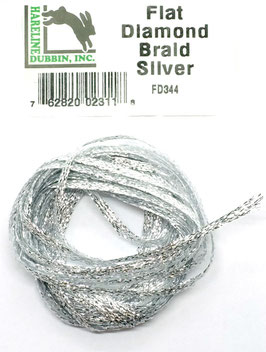 Hareline FLAT DIAMOND BRAID Silver FD344