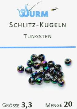 Wurm TUNGSTENKUGELN MIT SCHLITZ Rainbow 3,3mm