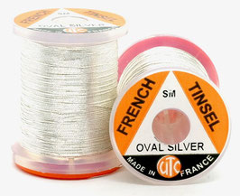 UTC FRENCH TINSEL OVAL Silver Small