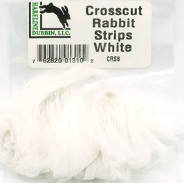 Hareline CROSSCUT RABBIT STRIPS White CRS8