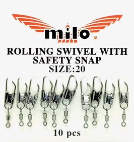 Milo BARREL SWIVEL WITH SAEFTY SNAP Art.651VV0301