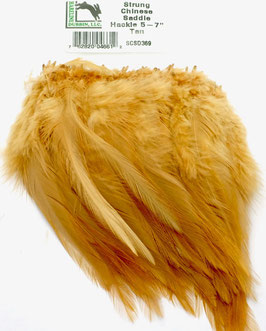 Hareline CHINESE SADDLE HACKLE 5 - 7'' Tan SCSD369