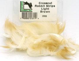 Hareline CROSSCUT RABBIT STRIPS Light Brown CRS9