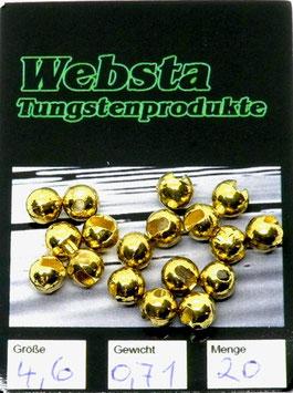 Websta TUNGSTENKUGELN MIT SCHLITZ Gold 4,6mm