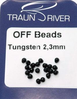 Traun River TUNGSTEN OFF BEADS 2,3mm Schwarz