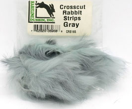 Hareline CROSSCUT RABBIT STRIPS Gray CRS165