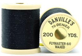 Danville's FLYMASTER 70 Denier Waxed Black TFS100