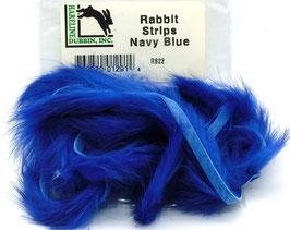 Hareline RABBIT STRIPS Navy Blue RS22