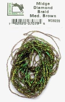 Hareline MIDGE DIAMOND BRAID Med. Brown MDB228