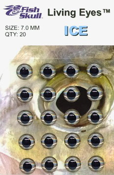 Fish Skull LIVING EYES Ice 7mm