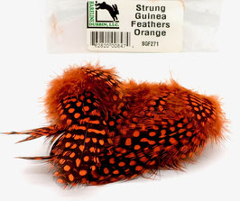Hareline STRUNG GUINEA FEATHERS Orange SGF271