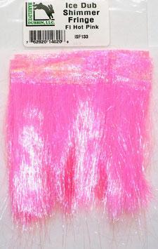 Hareline ICE DUB SHIMMER FRINGE Fl. Hot Pink ISF133